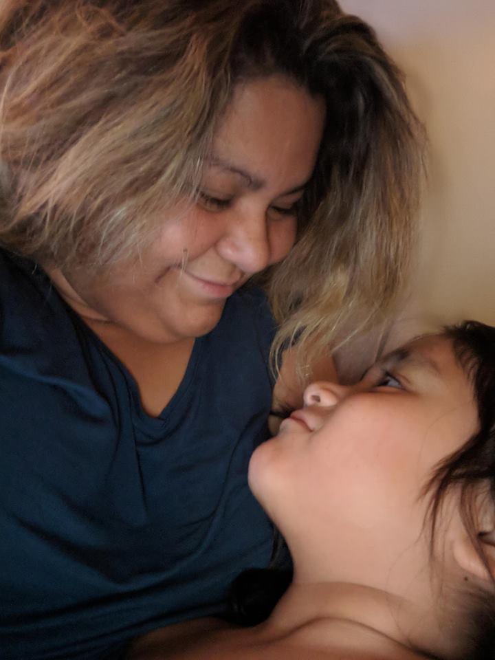 Joly Louise Pinette-Moreau avec sa fille