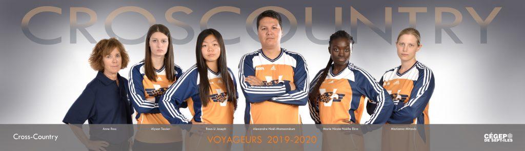 équipe de cross-country Les Voyageurs 2019-2020