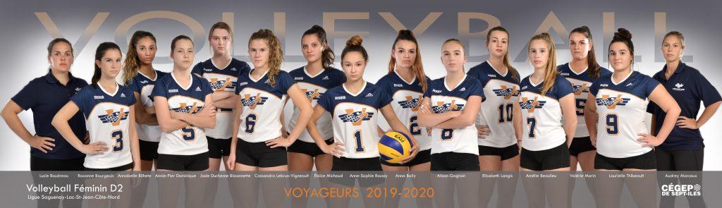 équipe de volleyball féminin Les Voyageurs 2019-2020
