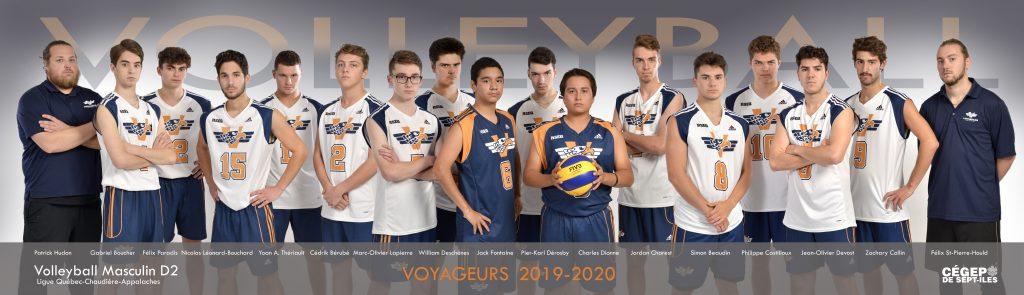 équipe de volleyball masculin Les Voyageurs 2019-2020