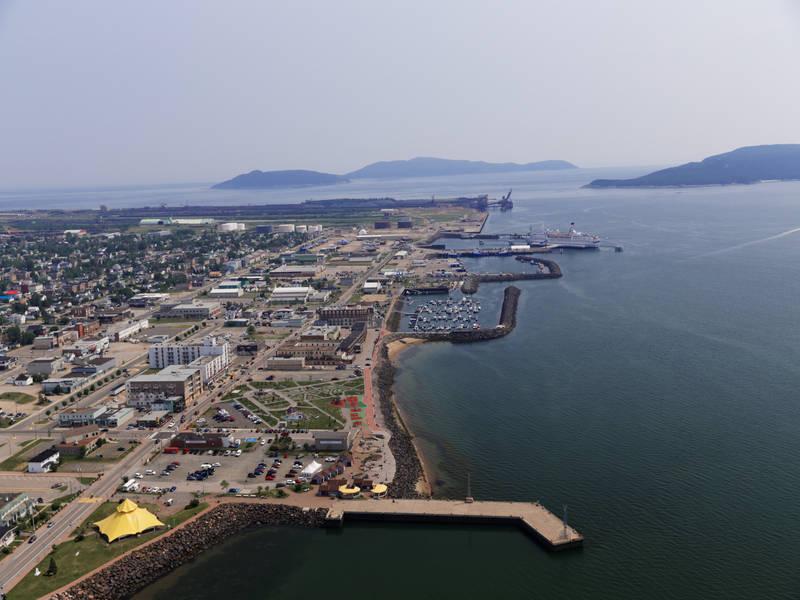 vue aérienne de la ville de Sept-Îles