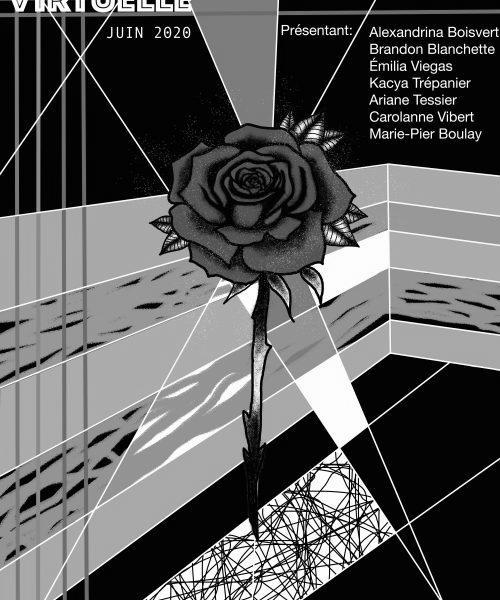 affiche de l'exposition des finissants en Arts visuels