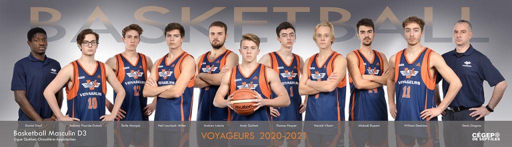 Équipe basketball Voyageurs 2020 2021