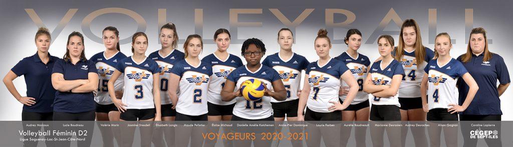 Volleyball féminin Voyageurs 2020 2021